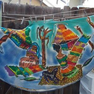 VINTAGE sequin spanish circke skirt